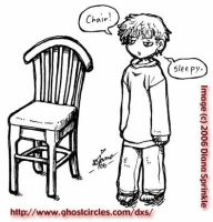 A chair and The Kid by amegoddess