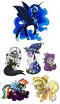 Halloween Pony Stickers by chibi-jen-hen