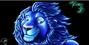 blue lion by bulo4ka