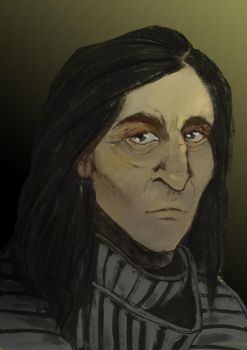 Snape Painting Practice by Sev-and-Darth
