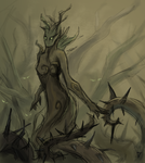 Creature Card: Spriggan by Saerileth