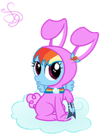 Raibow Dash Rabbit by KristieSparcle