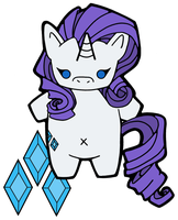 Rarity Phonecharm Design by House-of-Squee