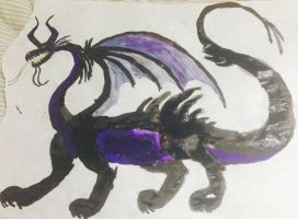 Maleficent dragon by masonthetrex
