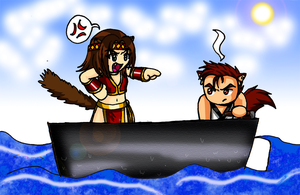 Wrong way to operate a boat by KimMcCloud