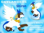 FANART:Legendz-Skylander Shiron the Windragon by ShardianofWhiteFire