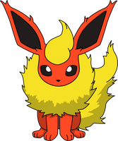 Flareon Sitting PNG by ProteusIII