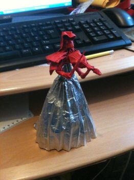 Origami Violinist by JacqueProductions