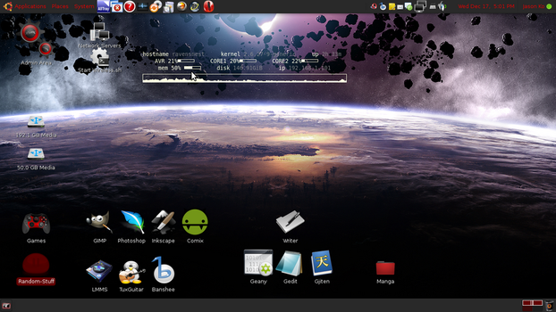 Desktop as of Dec. 17, '08 by SerenadeOmega