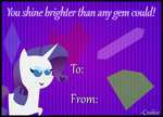 Rarity Valentine's Day Card by ThePoneSenpai