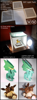 How to make a lightbox / photo tent by WebsterWorks