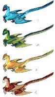 Microraptor adoptables CLOSED by Blue-Uncia