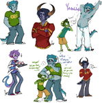 Some Humanized MU things by Squidbiscuit