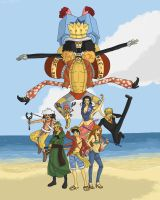 The Strawhat Crew by EtaCephei