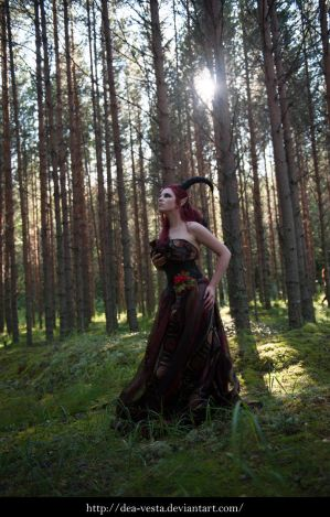 Forest demon 6 - female stock by Dea-Vesta