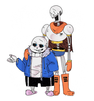 Sans and Pap by Derpy-Marshmallow