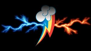 Rainbow Dash Cutiemark Thunderbolts Wallpaper by LasergunsPewPew