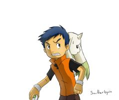 Henry and Terriermon by Snowflake-owl