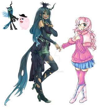 Chrysalis and Fluffle Puff by magico-enma