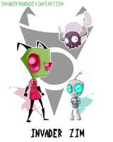 ~Zim, GIR and Minimoose~ by Invader-Panda