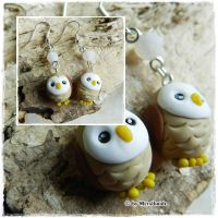 Owl earrings Tutorial YT by oOMetalbrideOo