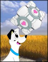 Bishop got A COMPANION CUBE by Luckyolwe