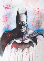 Batman-watercolor by brooxmagnetic