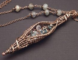 Twined Seed Pod Necklace by WiredElements