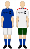 Soccer Football Uniform of the Republic of Quebec by kyuzoaoi