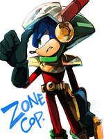 zonic the zone cop by lujji
