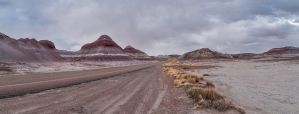 Petrified Forest: Tepees by j-ouroboros