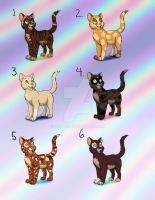 Kitteh Point Adopts (female) - CLOSED by Nala15