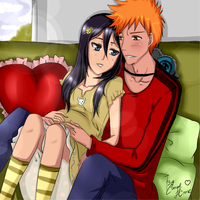 Ichigo and Rukia (Future Arc) by MyangHime