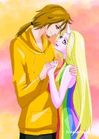 Jake and Lady Rainicorn - Adventure Time by Nanaruko