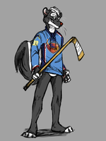 Hockey sketch commish 1 by AeroSocks
