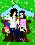 Madara and Mikoto... or maybe not Mikoto by reialdark66
