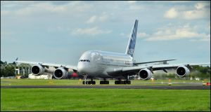 Airbus A380 Clear for Take off / FAS 2012 by Somebody-Somewhere