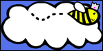Cloud and Bee design by ForgottenRobot
