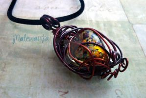 Tiger's Heart Pendant by motemanikabeads