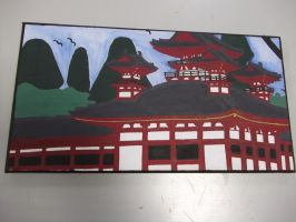 Shinto Temple Canvas by Luna-Rox