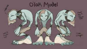 O'lak Model Sheet by good-fortune