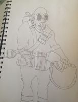 Pyro TF2 sketch by Megalomaniacaly