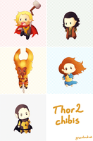 Avengers: Thor 2 Chibis by greenteaduck