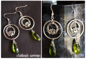 +Claddagh Earrings+ by nayruasukei
