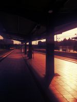 Sunrise at the station by Tobipictures