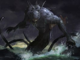 Kraken rough 2 by LozanoX