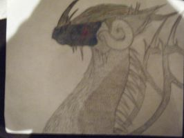 Unfinished Dragon Pic by Wolfy-Artist