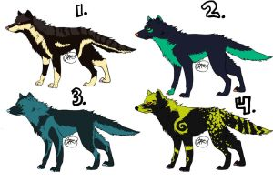 OPEN: Wolf adopts! sheet 1 by dttey