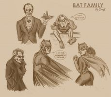 Bat Family sketches by xTERYLx