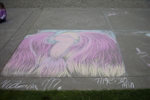 Walkway Chalkwork - pheonix by Lefuulei-Art